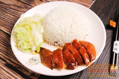 玫瑰露豉油鸡快餐饭