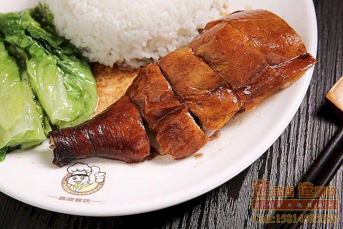 烧腊培训:烧腊快餐饭-烧鹅腿饭